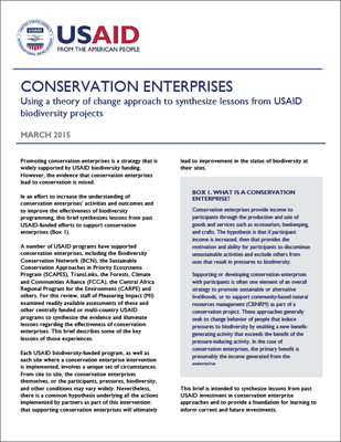 Conservation Enterprises Brief