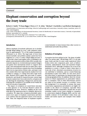 Elephant conservation and corruption beyond the ivory trade