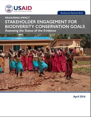 Stakeholder engagement for biodiversity conservation goals  Assessing the Status of the Evidence