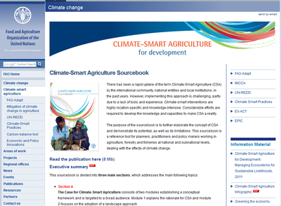 FAO Climate-Smart Agriculture for Development