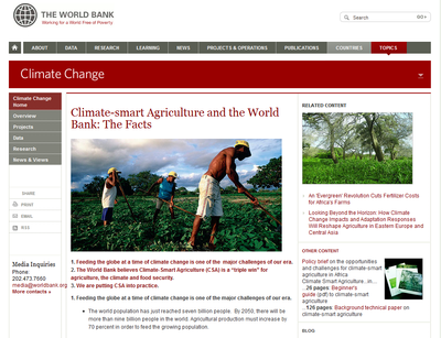 World Bank - Climate Smart Agriculture