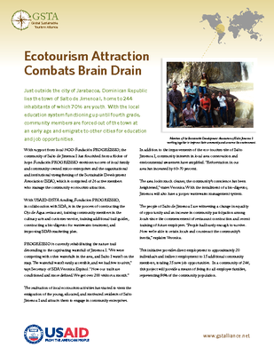 Ecotourism Attraction Combats Brain Drain