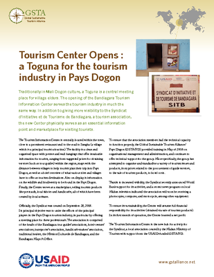Tourism Center Opens : a Toguna for the tourism industry in Pays Dogon