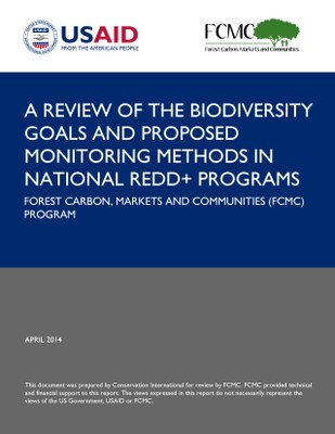 A Review of the Biodiversity Goals and Proposed Monitoring Methods in National REDD+ Programs