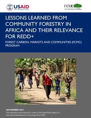 Lessons Learned from Community Forestry in Africa and Their Relevance for REDD+