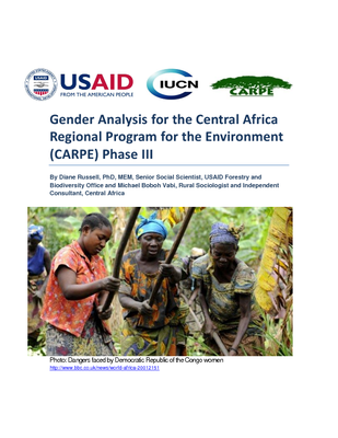 Gender Analysis for the Central Africa Regional Program for the Environment (CARPE) Phase III