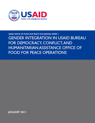 Gender Integration in USAID Bureau for Democracy, Conflict, and Humanitarian Assistance Office of Food for Peace Operations