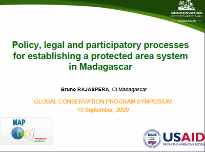 Policy, legal and participatory processes for establishing a protected area system in Madagascar
