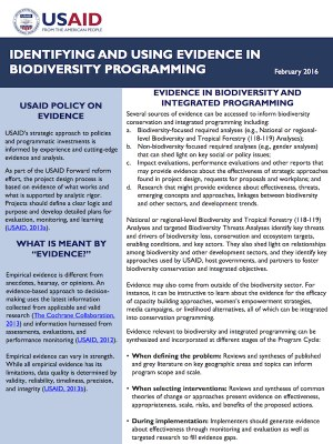 Identifying and Using Evidence in Biodiversity Programming PDF