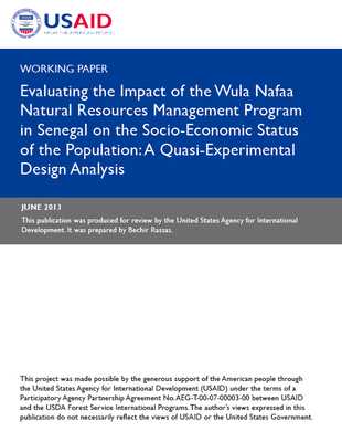 Working Paper - Evaluating the Impact of the Wula Nafaa Natural Resources Management Program in Senegal on the Distribution, Exercise, and Accountability of Power