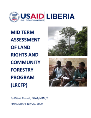MID-TERM ASSESSMENT OF THE LAND RIGHTS AND COMMUNITY FOREST PROGRAM