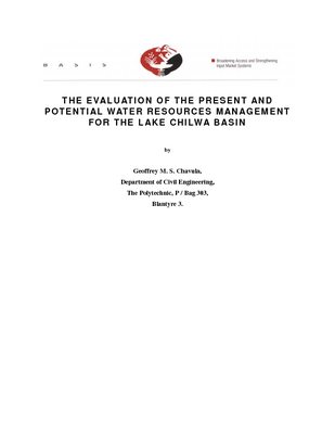 The evaluation of the present and potential water resources management for the Lake Chilwa Basin