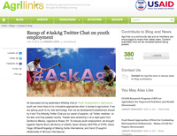 Recap of #AskAg Twitter Chat on Youth Employment