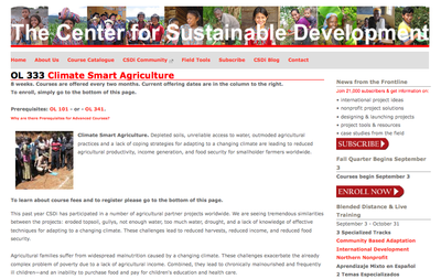 The Center for Sustainable Development: OL 333 - Climate Smart Agriculture