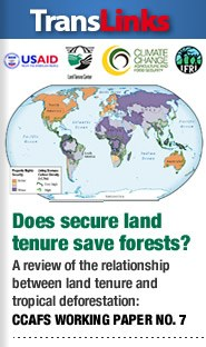 Does secure land tenure save forests? A review of the relationship between land tenure and tropical deforestation (CCAFS Working Paper No. 7)