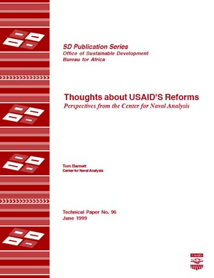 Thoughts about USAID'S Reforms Perspectives from the Center for Naval Analysis