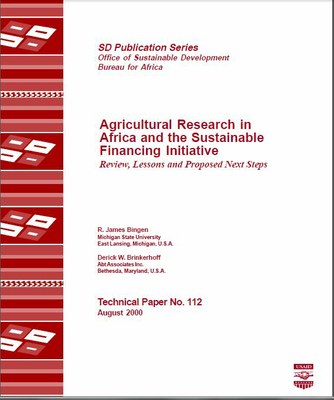 Agricultural Research in Africa and the Sustainable Financing Initiative Review, Lessons and Proposed Next Steps