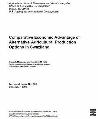Comparative Economic Advantage of Alternative Agricultural Production Options in Swaziland