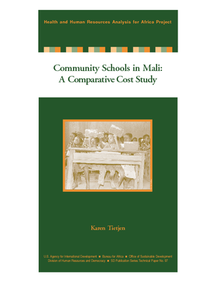 Community Schools in Mali: A Comparative Cost Study