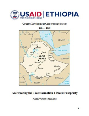 USAID Ethiopia: Country Development Cooperation Strategy 2011 – 2015