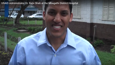 USAID Administrator Dr. Rajiv Shah at the Mbagathi District Hospital