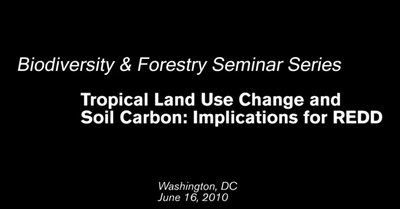 Video: Tropical Land Use Change and Soil Carbon: Implications for REDD
