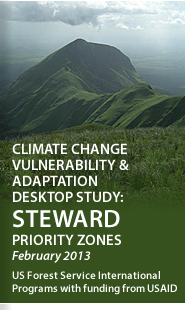 Cover: Climate Change Vulnerability & Adaptation Desktop Study of STEWARD Priority Zones