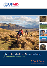 Cover: The Threshold of Sustainability for Tourism within Protected Areas Featured February 6, 2012