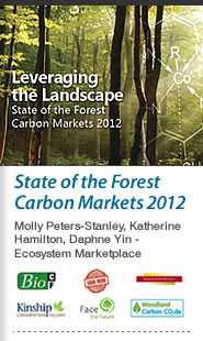 Cover: Cover Art - Leveraging the Landscape: State of the Forest Carbon Markets 2012