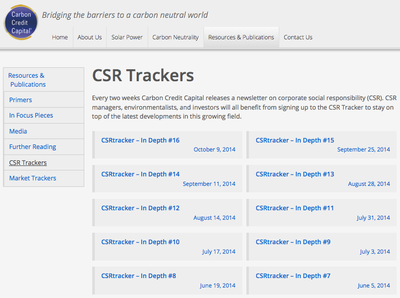 CCC CRS Trackers