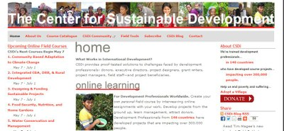 The Center for Sustainable Development