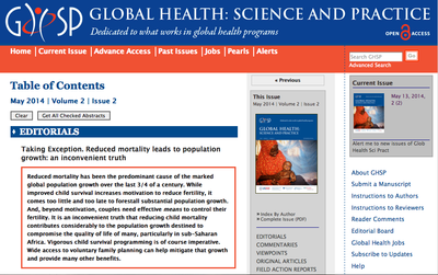 Global Health: Science and Practice (GHSP) | May 2014 | Volume 2 | Number 2