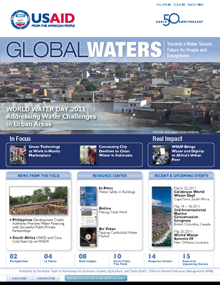 USAID Global Waters: World Water Day - Addressing Water Challenges in Urban Areas | March 2011