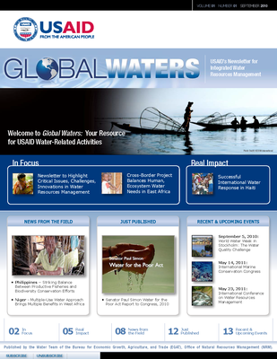 USAID Global Waters: Welcome to Global Waters - Your Resource for USAID Water-Related Activites | September 2010