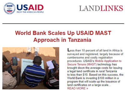 USAID LandMatters Newsletter December 2018
