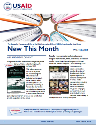 USAID New this Month Winter 2015: What's New in the USAID Library
