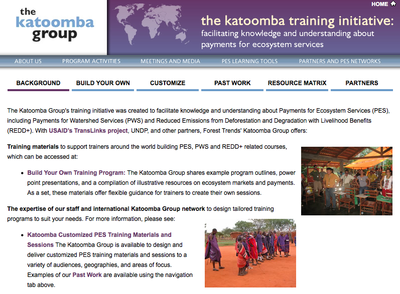 The Katoomba Group's Training Initiative