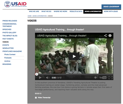 USAID Agricultural Training... through theater!