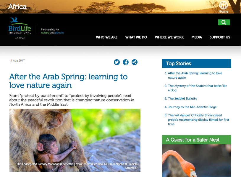 After the Arab Spring: Learning to Love Nature Again