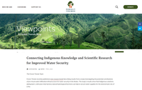 Connecting Indigenous Knowledge and Scientific Research for Improved Water Security