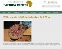 CSU helping to establish electricity in East Africa