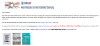 New books in the USAID Library 1/8/20