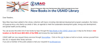 New Books in the USAID Library: February 4, 2020
