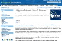 UN Launches Biodiversity Platform for Science and Policy