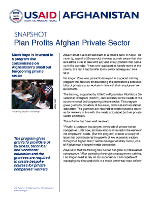 Plan for Profiting Private sector